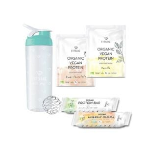 FITSHE starterkit vegan shakes and bars productimage